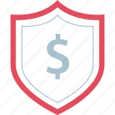 dollar, money, pay, shield icon