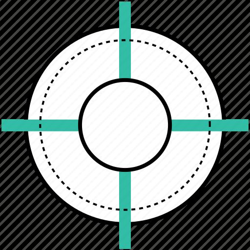 achieve, goal, measure, target icon