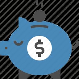 bank, budget, finance, investment, money, piggy, savings icon
