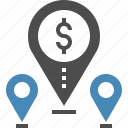 address, gps, location, map, marker, money, navigation icon