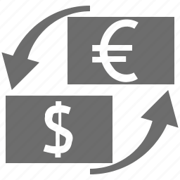 currency, eur, exchange, usd icon