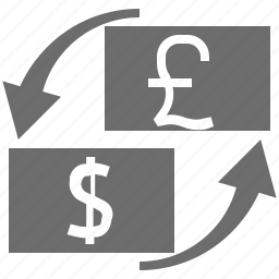 currency, exchange, gbp, usd icon