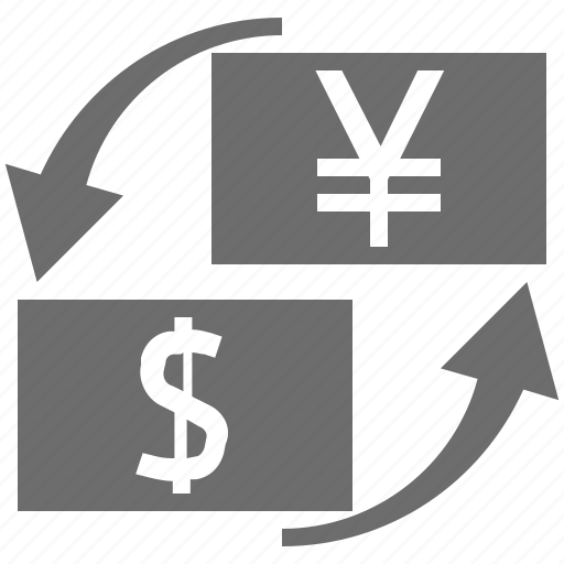 currency, exchange, jpy, usd icon
