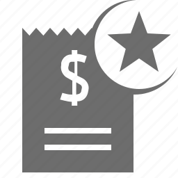 favorite, finance, payment, star icon