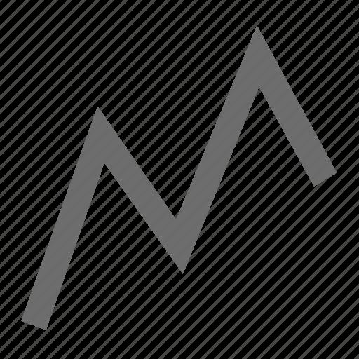 finance, forex, graph, line icon