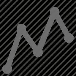 dot, forex, graph, line icon