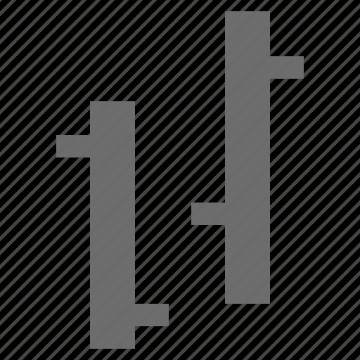 bar, forex, graph, ohlc icon