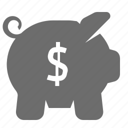 bank, banking, credit, piggy icon