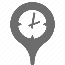 location, pin, time, zone icon