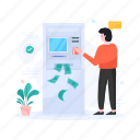 automated teller machine, cash machine, cash withdrawal, atm withdrawal, atm