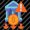 banking, liquidity, money, risk icon