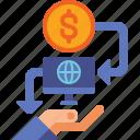 banking, lending, money, p2p icon