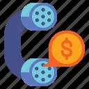 banking, money, phone, telephone icon