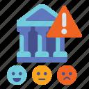 banking, danger, reputational, risk icon