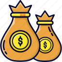 bank, banking, coins, currency, dividend icon