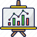 analysis, business, graph, marketing, up and down icon