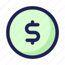 coin, currency, earnings, money icon
