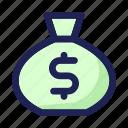 bag, business, dollar, finance, money, moneysack