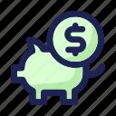 business, coin, finance, money, pig, savings
