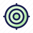 arrow, business, finance, goal, target icon