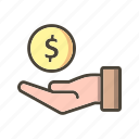 banking, cashout, debt, loan, money icon