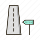 milestone, road, success, to icon