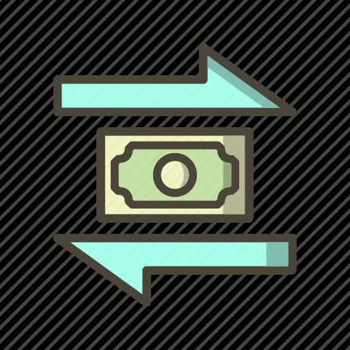 banking, exchange, money icon