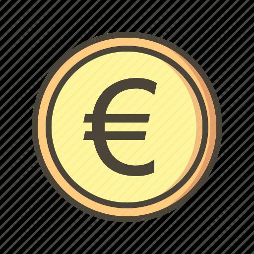banking, coin, euro icon
