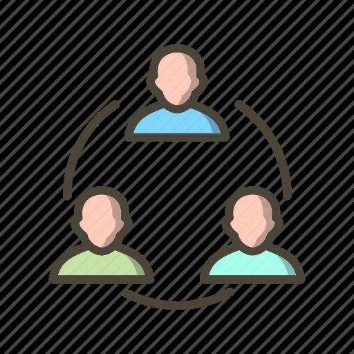 banking, conversation, meeting, network, team icon