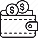 cash, finance, money, personal, rich, saving, wallet icon