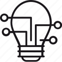 bulb, creative, idea, innovation, lamp, smart, solutions icon