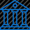 bank, banking, building, establishment, finance, office, service icon
