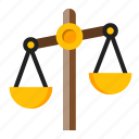 balance, currency, money, scales icon