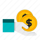 donate, donation, give, pay icon