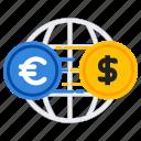 conversion, dollar, exchange, money icon