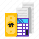 accounting, bank, calculation, financial icon