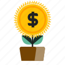 growth, increase, money icon