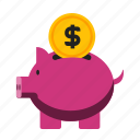 bank, credit, money, piggy icon