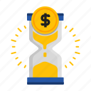 business, cash, chart, finance, money, time icon