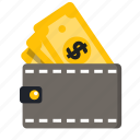 business, card, cash, wallet icon