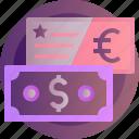 exchange, banking, currency, dollar, euro, finance, money
