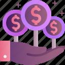 cash, finance, income, making, money, profit icon