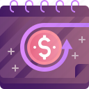refund, arrow, back, coin, finance, money, return