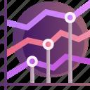 analytics, data, graph, market, report, statistics, stock icon