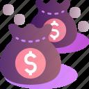 wealth, bag, cash, dollar, finance, money, rich
