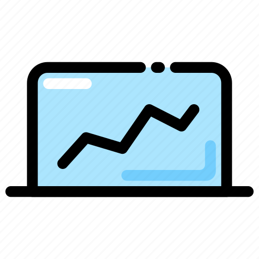 banking, chart, finance, rates exchange icon