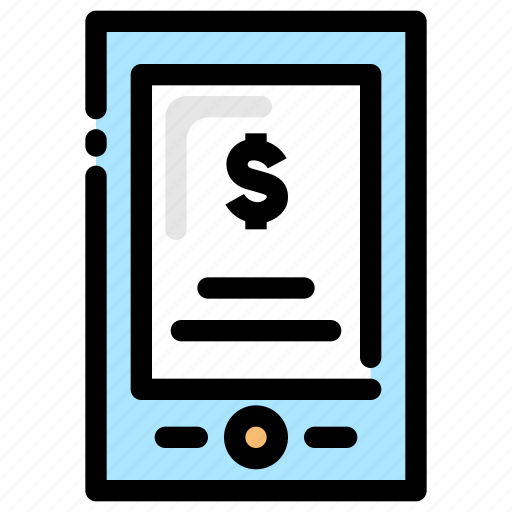 banking, e-payment, finance, mobile banking icon