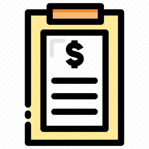 balance sheet, bank statement, banking, clip board, finance, invoice, payment icon