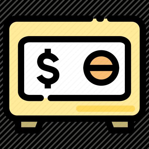 banking, deposit box, finance, save box icon