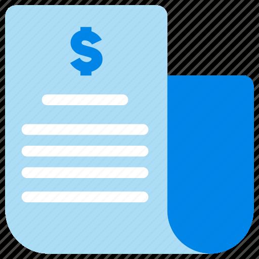 balance sheet, bank statement, banking, transaction icon